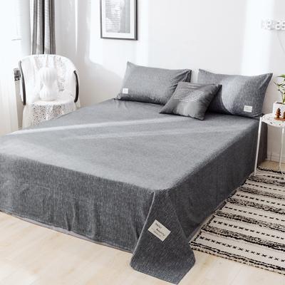 2019新款-日式风全棉水洗棉 单床单+枕套(三件套) 学生宿舍床120cmx230cm 诺威