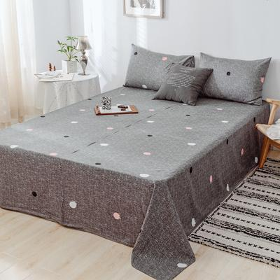 2019新款-日式风全棉水洗棉 单床单+枕套(三件套) 学生宿舍床120cmx230cm 维娜