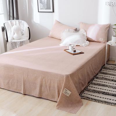 2019新款-日式风全棉水洗棉 单床单+枕套(三件套) 学生宿舍床120cmx230cm 希娜