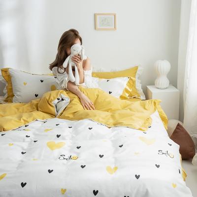 2019春夏新品 公主风全棉水洗棉系列 床裙款 1.2床裙 微笑