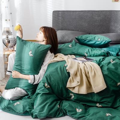 2019新款-全棉60S臻柔棉(滚边系列)四件套 床单款三件套1.2m(4英尺)床 小野菊