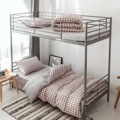 2019新款-全棉水洗棉(学生宿舍)三件套 0.9M床 套件三件套 艾琳