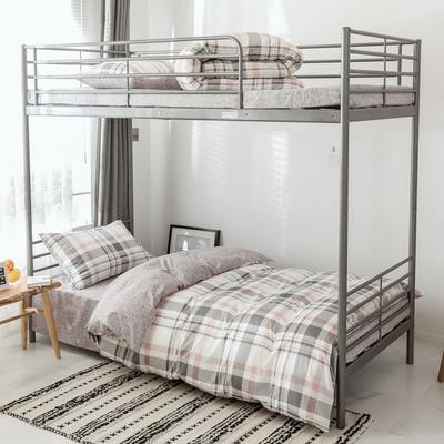 2019新款-全棉水洗棉(学生宿舍)三件套 0.9M床 套件三件套 典雅