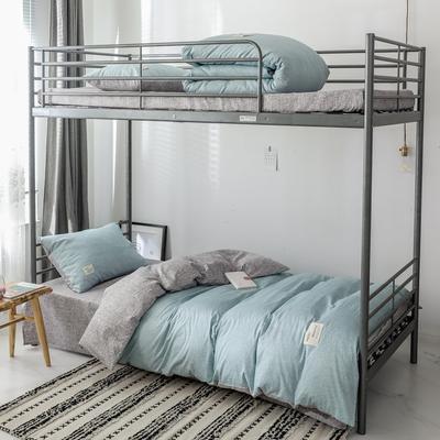 2019新款-全棉水洗棉(学生宿舍)三件套 0.9M床 套件三件套 弗杰