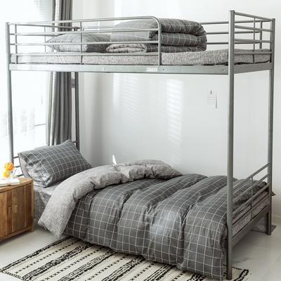 2019新款-全棉水洗棉(学生宿舍)三件套 0.9M床 套件三件套 迷森