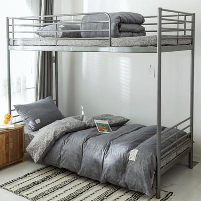 2019新款-全棉水洗棉(学生宿舍)三件套 0.9M床 套件三件套 诺威