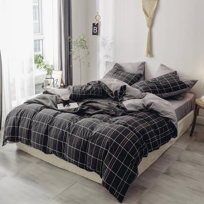 2019新款-全棉水洗棉(学生宿舍)三件套 0.9M床 套件三件套 奢华