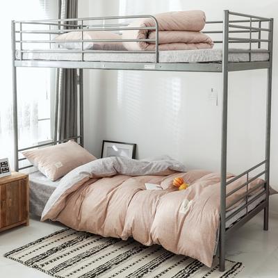 2019新款-全棉水洗棉(学生宿舍)三件套 0.9M床 套件三件套 希娜