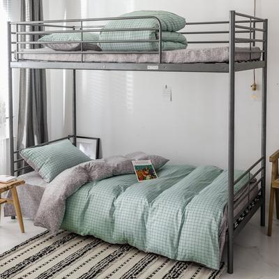 2019新款-全棉水洗棉(学生宿舍)三件套 0.9M床 套件三件套 伊格-绿
