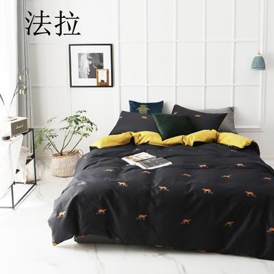 2019新款-全棉60S臻柔棉(滚边系列)四件套 床单款三件套1.2m(4英尺)床 法拉