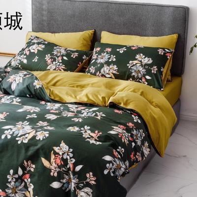 2019新款-全棉60S臻柔棉(滚边系列)四件套 床单款三件套1.2m(4英尺)床 倾城