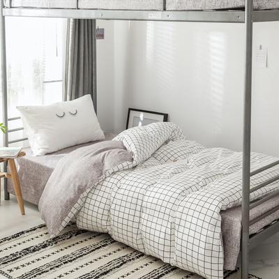 2019新款-全棉水洗棉(学生宿舍)单被套 单被套150x200cm 多拉