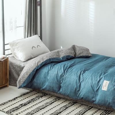 2019新款-全棉水洗棉(学生宿舍)单被套 单被套150x200cm 蓝调