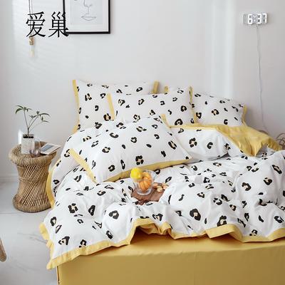 2019新款-全棉60S臻柔棉(宽边款)四件套 床单款三件套1.2m(4英尺)床 爱巢