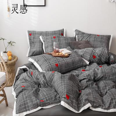 2019新款-全棉60S臻柔棉(宽边款)四件套 床单款三件套1.2m(4英尺)床 灵感