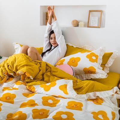 2019春夏新品 公主风全棉水洗棉系列 床裙款 1.2床裙 泫雅橙