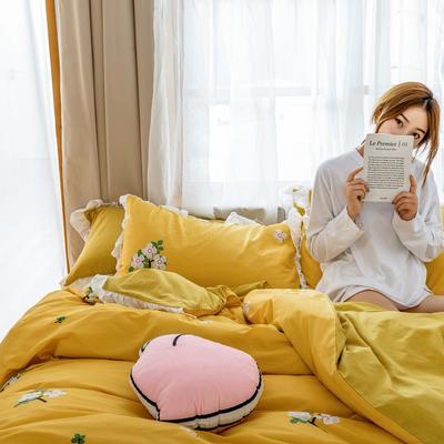 2019新款- 公主风全棉水洗棉系列 1.2床裙三件套 芬芳