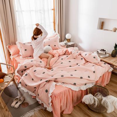 2019新款- 公主风全棉水洗棉系列 1.2床裙三件套 梦幻