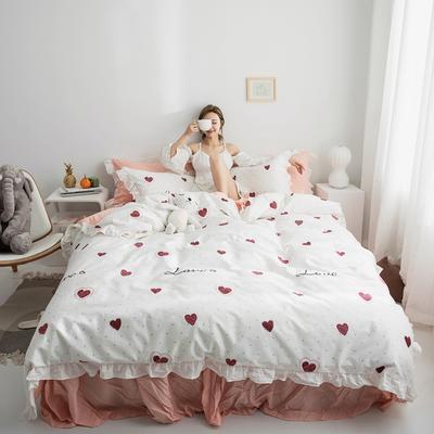 2019新款-春夏新品公主風全棉水洗棉系列 1.2床單款三件套 戀愛