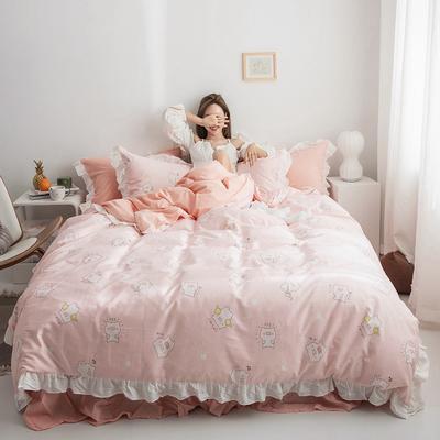 2019新款-春夏新品公主风全棉水洗棉系列 1.2床裙三件套 麦兜
