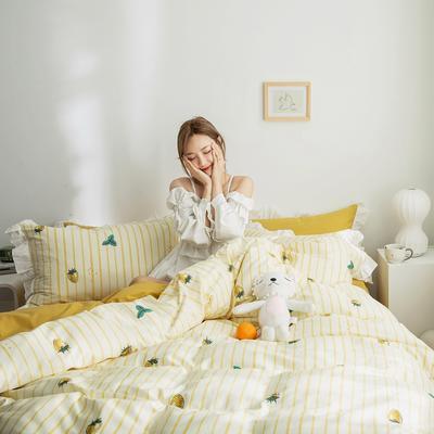 2019新款-春夏新品公主风全棉水洗棉系列 1.2床单款三件套 硕果