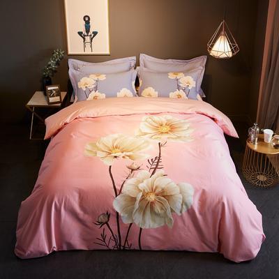 2019新款-全棉磨毛阳光暖绒四件套 床单款1.8m(6英尺)床 爱莲娜