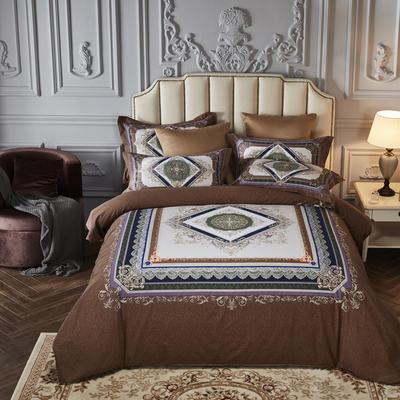 2019新款-全棉磨毛阳光暖绒四件套 床单款1.8m(6英尺)床 巴塞罗那