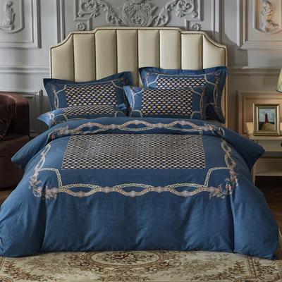 2019新款-全棉磨毛阳光暖绒四件套 床单款1.8m(6英尺)床 斐奥娜