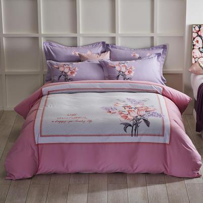 2019新款-全棉磨毛阳光暖绒四件套 床单款1.8m(6英尺)床 芬迪