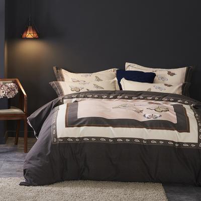 2019新款-全棉磨毛阳光暖绒四件套 床单款1.8m(6英尺)床 尼克