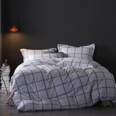 2019新款-全棉磨毛阳光暖绒四件套 床单款1.8m(6英尺)床 瑞格