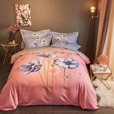 2019新款-全棉磨毛阳光暖绒四件套 床单款1.8m(6英尺)床 颜沫