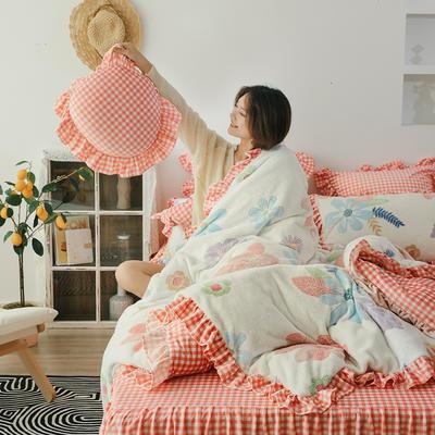 2019新款-公主风雪花绒四件套 床单款四件套1.5m(5英尺)床 繁花