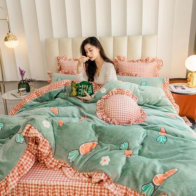 2019新款-公主风雪花绒四件套 床单款三件套1.2m(4英尺)床 果蔬