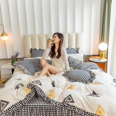 2019新款-公主风雪花绒四件套 床单款四件套1.5m(5英尺)床 梦想