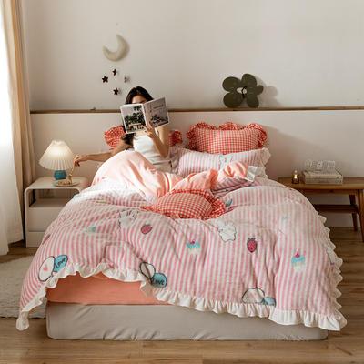 2019新款-公主风雪花绒四件套 床单款三件套1.2m(4英尺)床 趣味