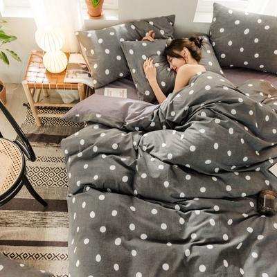 2019新款全棉磨毛阳光暖绒四件套 1.2m床单款三件套 欧里维-灰