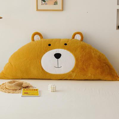 2019新款-熊床靠背 1.2M含芯 笨笨黄熊