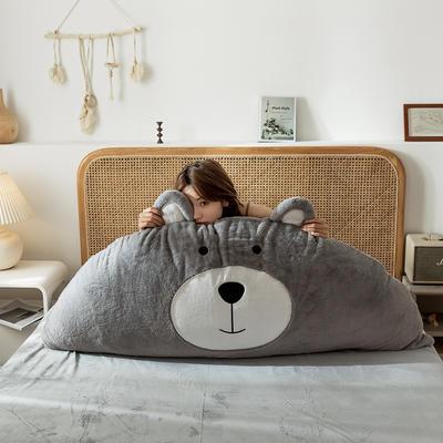 2019新款-熊床靠背 1.2M含芯 笨笨灰熊