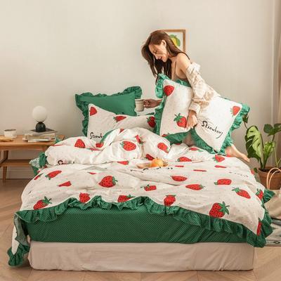 2020新款-公主风全棉梦系列四件套 床单款三件套1.2m(4英尺)床 梦巴啦