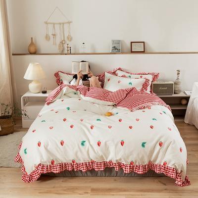 2020新款-公主风全棉梦系列四件套 床单款三件套1.2m(4英尺)床 梦之恋
