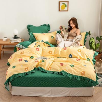 2020新款-公主风全棉梦系列四件套 床单款三件套1.2m(4英尺)床 七彩梦