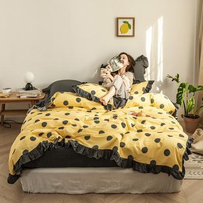 2020新款-公主风全棉梦系列四件套 床单款四件套1.5m(5英尺)床 甜梦圆