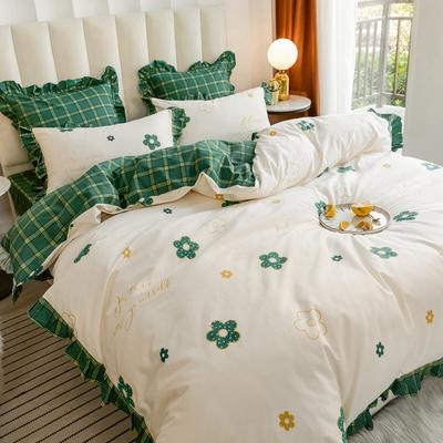 2020新款-公主风全棉梦系列四件套 床单款三件套1.2m(4英尺)床 依恋