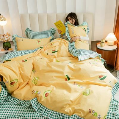 2020新款-公主风全棉梦系列四件套 床单款四件套1.5m(5英尺)床 由由