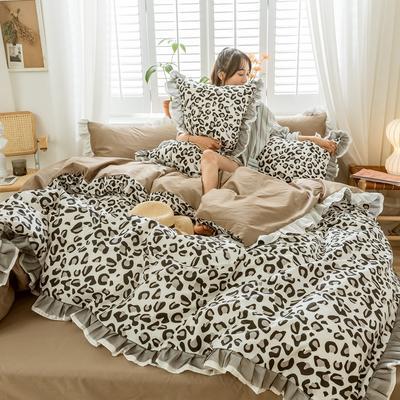 2020新款-全棉公主风黑纱蕾丝系列四件套 床单款四件套1.5m(5英尺)床 克里斯