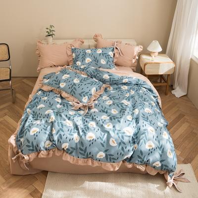 2020新款-全棉轻奢风系列四件套 床单款1.5m(5英尺)床 暗香