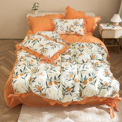 2020新款-全棉轻奢风系列四件套 床单款1.5m(5英尺)床 莫娜