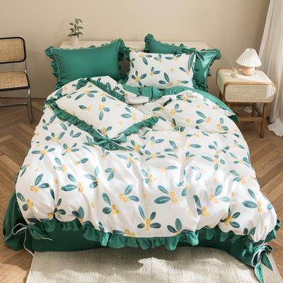 2020新款-全棉轻奢风系列四件套 床单款1.5m(5英尺)床 枇杷