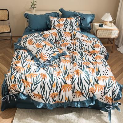 2020新款-全棉轻奢风系列四件套 床单款1.5m(5英尺)床 蔷薇